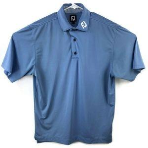 Footjoy Mens Medium Blue Polo Golf Shirt